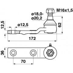 Rotule 100144-CK Claas