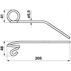 Dent Rabatteur 650500CL-M Claas