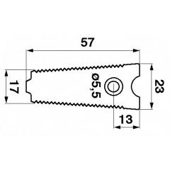 Contre plaque de doigt 206280M1-S Massey Ferguson