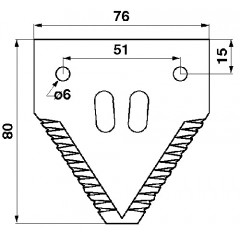 Section de lame, tranchant supérieure SCHUMACHER