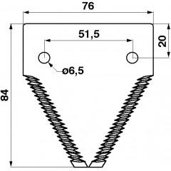 Section de lame 11TPI 611203-S Claas