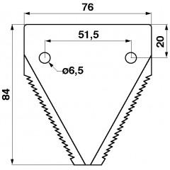 Section de lame (version nouvelle) 611316-S Claas